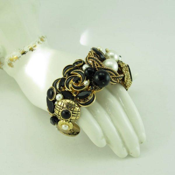 Black Gold Wearable Art Cuff