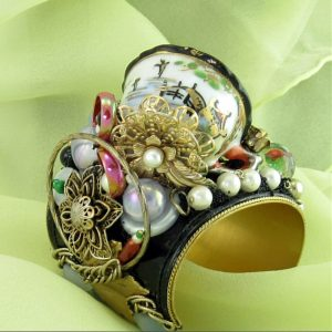 Bridge to the Orient Miniature Cup Decorative Couture Cuff