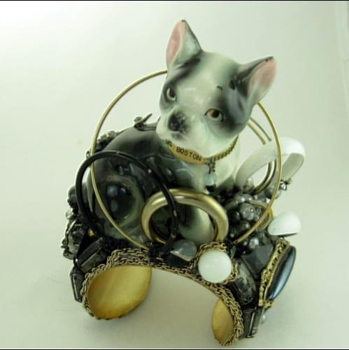 Ballerina & Boston Terrier Story Cuff