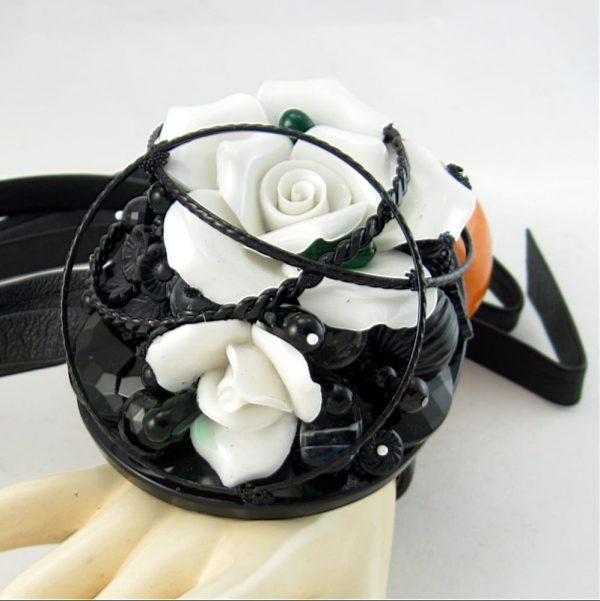 Black & White Wedding Couture Cuff