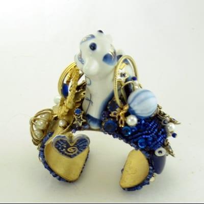 Delftware Blue Cow Cuff Assemblage
