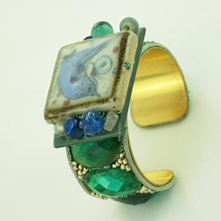 Blue Bird Talavera Bracelet | Tile Art Cuff