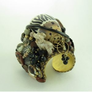 Animal Print Stone Egg Couture Cuff
