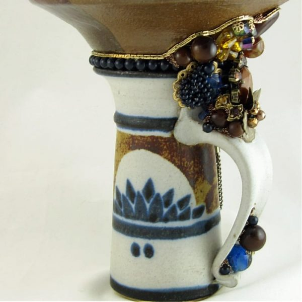 Earth Friendly Up-cycled Pottery & Trinket Candy Dish