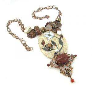 Rich Copper Couture Necklace