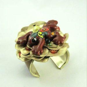 Talavera Frog Golden Pond Cuff Bracelet