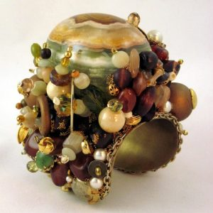 Magnificent Layered Alabaster Egg Bracelet