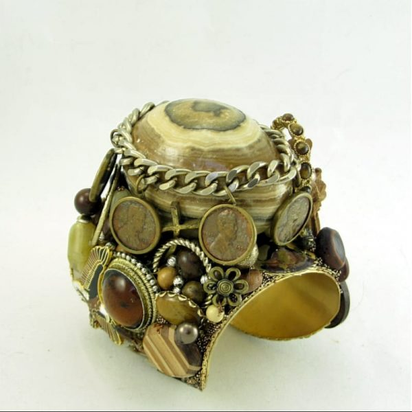 Five Penny Egg Structural Art Cuff