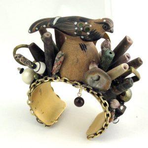Tonola Perez Pottery Desert Bird Cuff