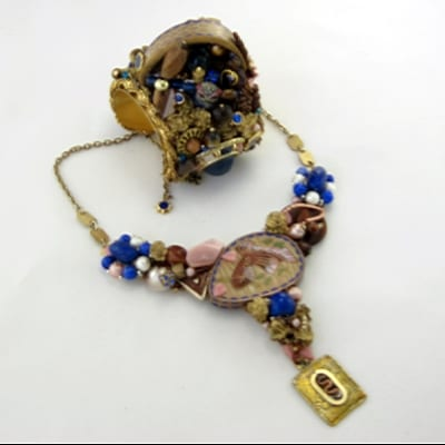 Exotic Fish Cloisonné Necklace