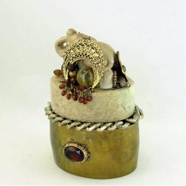 Elephant in the Buff Mini Sculptural Art