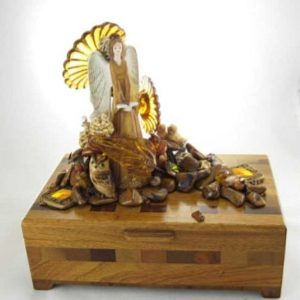 Earth Angel Jasper Wood Box Assemblage