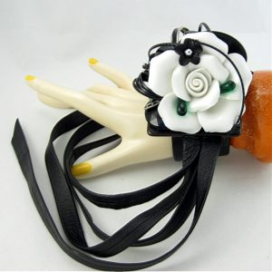 White Rose Wedding Couture Cuff