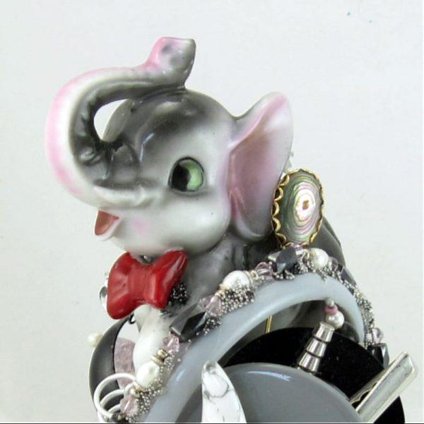Elephant Art Cuff - Green Eyed, Bow-Tied Cartoon