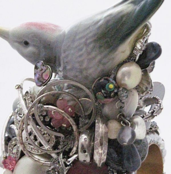 Bird in the Bush Porcelain Figurine Show Piece