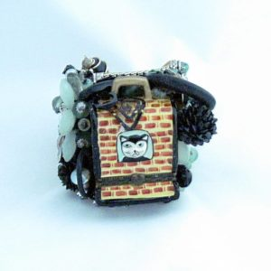 Brick Cat House Art Couture Cuff