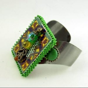 Talavera Tile Cuff Bracelet
