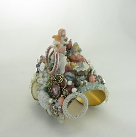 All is Calm Nativity Assemblage Cuff
