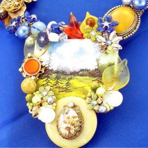 Peaceful Painting Art Couture Neckpiece