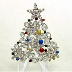 SWAROVSKI Star Christmas Tree - Rhinestone Rockefeller Pin