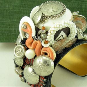 Pueblo Terra Pot Southwestern Couture Art Cuff