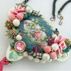 Floral Riot Victorian-esque Couture Necklace
