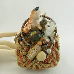 Miniature Porcelain Kittens Cuff