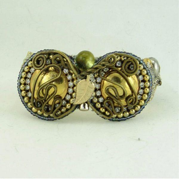 Custom Gold & Silver Story Cuff