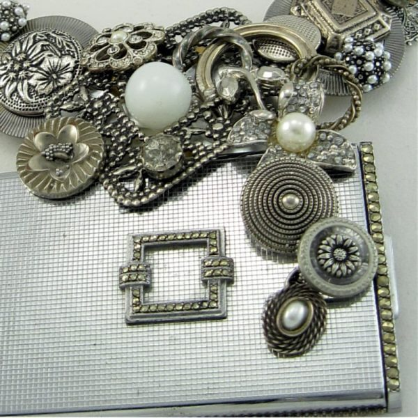 Deco Marcasite Compact Couture Necklace