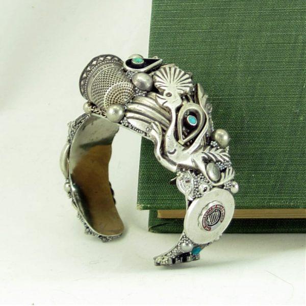 Grandmas Silver Thimble Custom Art Story Cuff