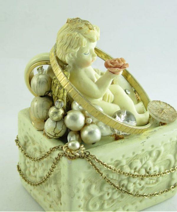 Cherub Cake Topper Sculpture