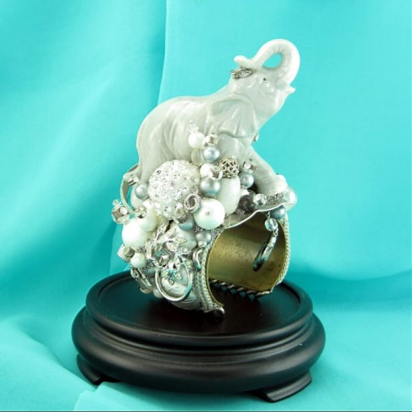 White Elephant Princess Structural Art Couture Cuff