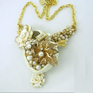 Full Heart Structural Art Couture Necklace