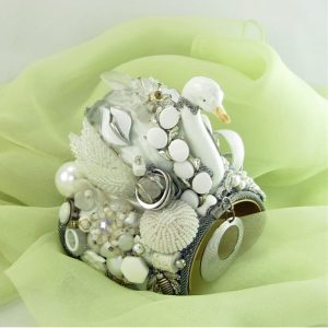Orrefors Wedding Cuff Swan Couture Art