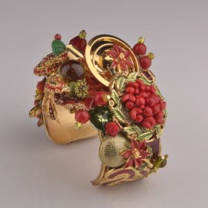 Holiday Snake Art Couture Cuff