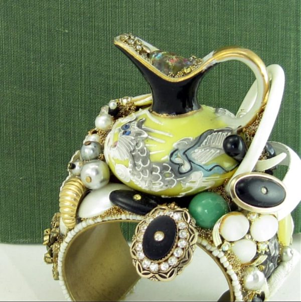 Dragonware Structural Art Cuff with Yellow Mini Pitcher
