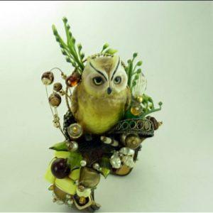 Owl Art Cuff - Golden Couture Bracelet