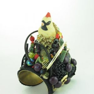 Lenox Berries and Bird Couture Cuff